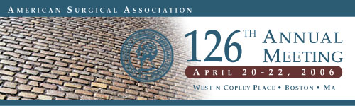 126th Annual Meeting April 20-22, 2006 Westin Copley Place Boston, MA