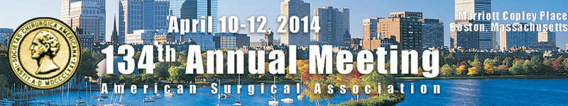 134th Annual Meeting April 10-12, 2014, Marriott Copley Place, Boston, Massachusetts